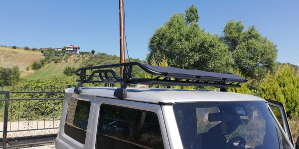 Suzuni Jimny Universal Luggage Rack Roof Rack 100 kg Steel Black